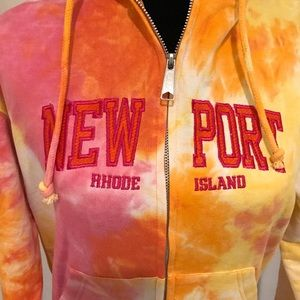Newport, RI tie-dye hoodie sweatshirt small…